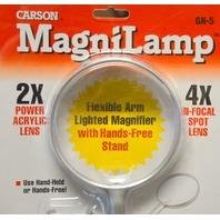Carson Magnilamp #GN-5, 2 in 1Illuminated Magnifier 2X with 4X Bi-Focal Spot -