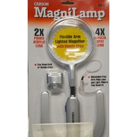 Carson Magnilamp #GN-5, 2 in 1Illuminated Magnifier 2X with 4X Bi-Focal Spot -
