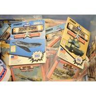 Desert Storm Trading Cards 43 packs of Series ! -8701-1805 & 12 Plastic Glasses.