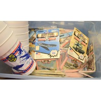 Desert Storm Trading Cards 43 packs of Series ! -8701-1805 & 12 Plastic Glasses.
