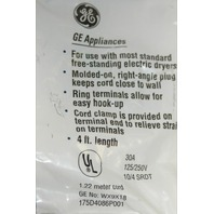 GE 4-Wire Dryer Power Cord - New - #WX9X18