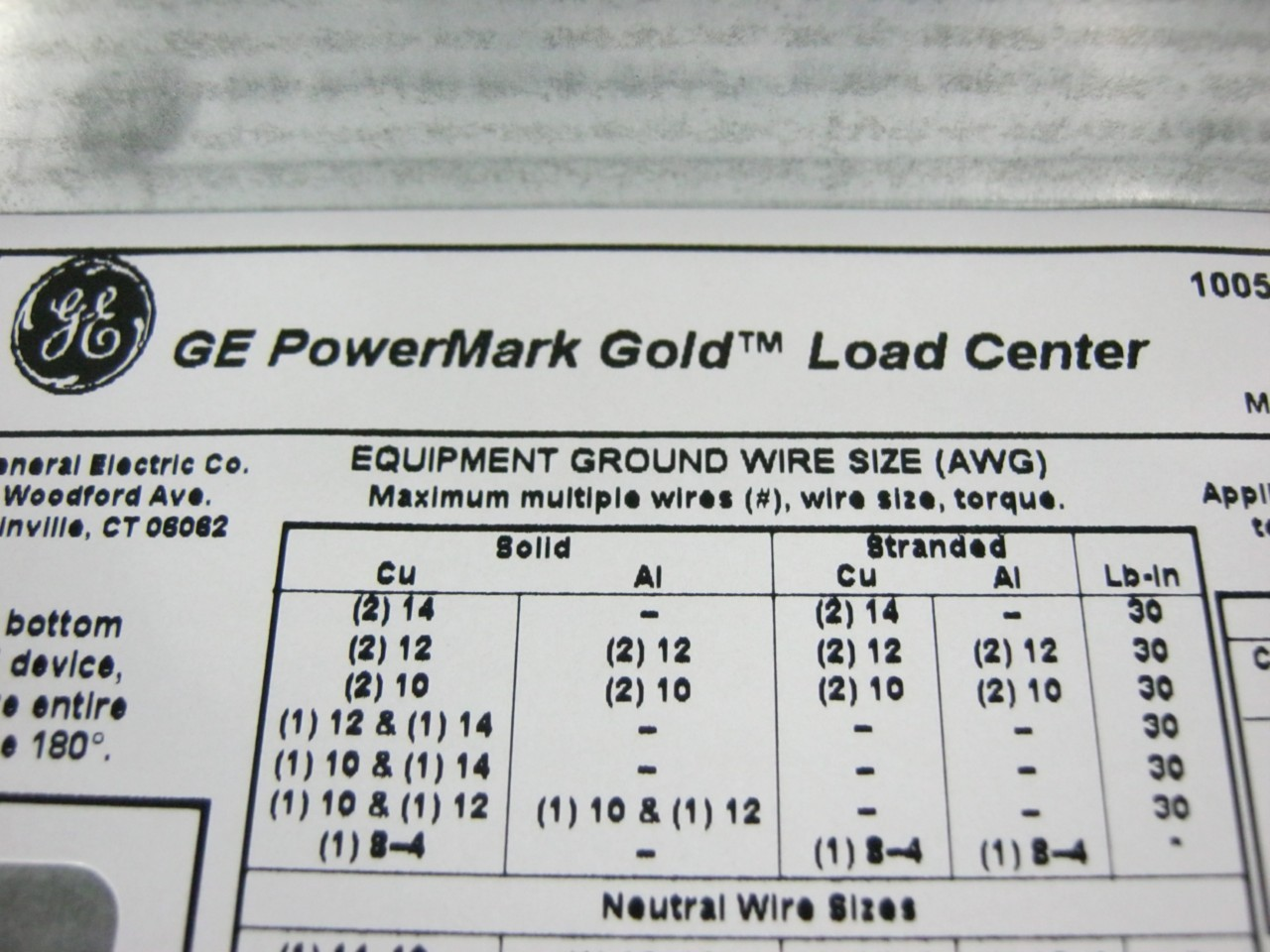 GE TM3220CCU 200 Amp Main Breaker Load Center 120/240 VAC 1 Phase 3 ...