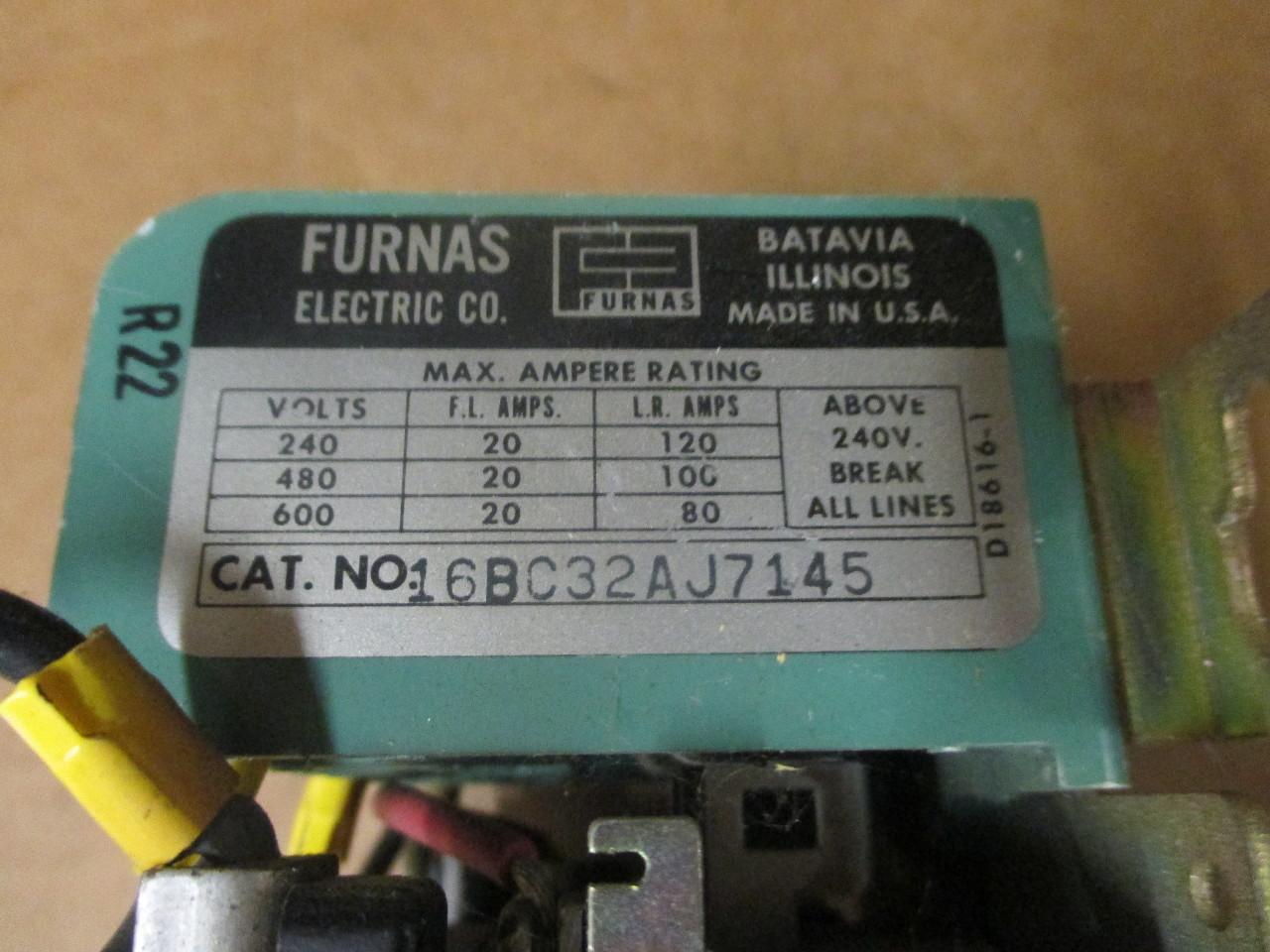 FURNAS ELECTRIC CO 16BC32AJ7145 Starter