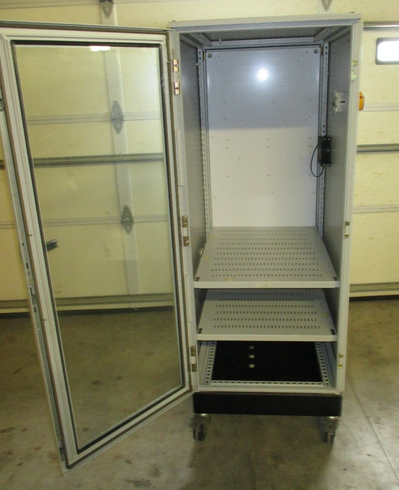 Hoffman Schroff Enclosure With Steel Framed Glass Door 2 Shelves