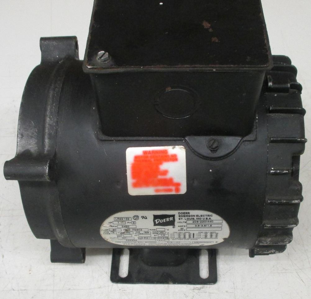 Doerr Lr22132 Motor Wiring Diagrams 33312d1402938494doerrlr22132motorwiringmotorjpg 1 H P 3450rpm Daves Industrial Surplus Llc 2hp