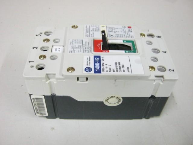 Allen Bradley 140U-H2C3-C40 A 40 Amp Circuit Breaker 3 Pole 600 VAC ...