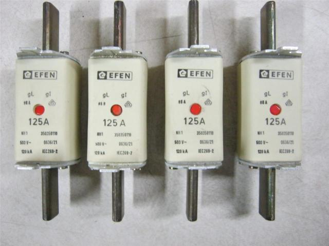 New no pkg, Efen fuse gL/gl, NH1, 125A 350350110
