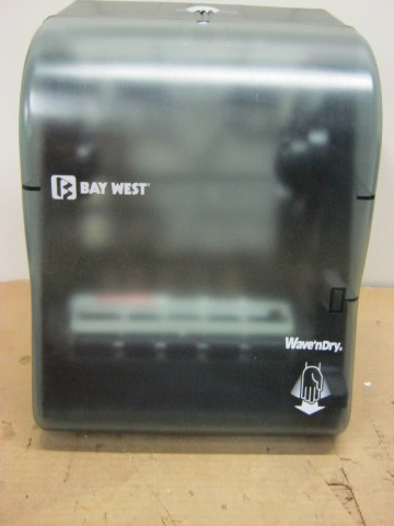 Bay West  Hands - Free Wave-N-Dry  Hand Towel Dispenser w/ Lock Key