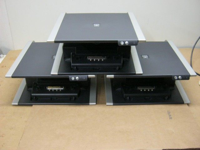 Lot of 3 Dell PR01X Docking Stations and Monitor Stands