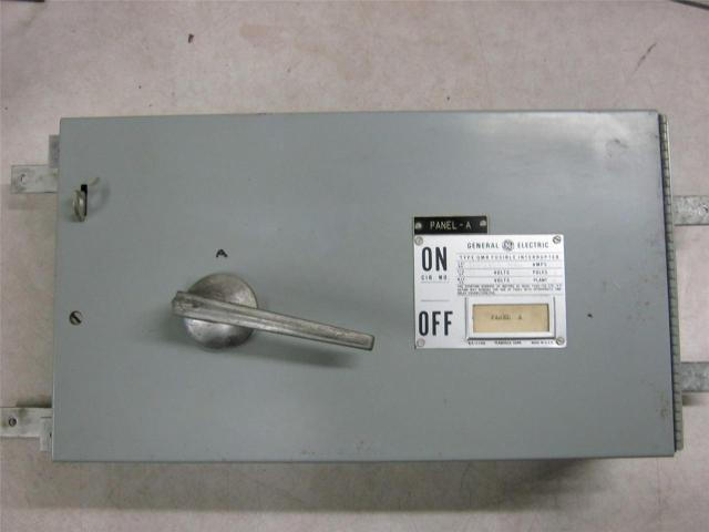 General Electric Type QMR Fusible Interrupter THPS364 200 Amp 600 Volts