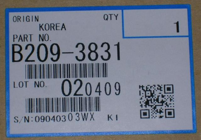 Genuine Ricoh Brand Transfer Roller Assembly, B209-3831 B2093831, NEW, NIB