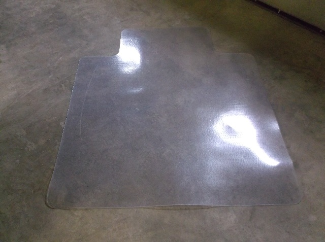 Office Chair Mat Clear for Hardwood Floors or Protect Carpet  41 x 44 Mat 12 x 24 Lip