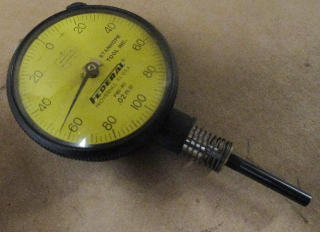 FEDERAL  DIAL INDICATOR GAUGE GAGE P81-R1 .02mm Flat Back