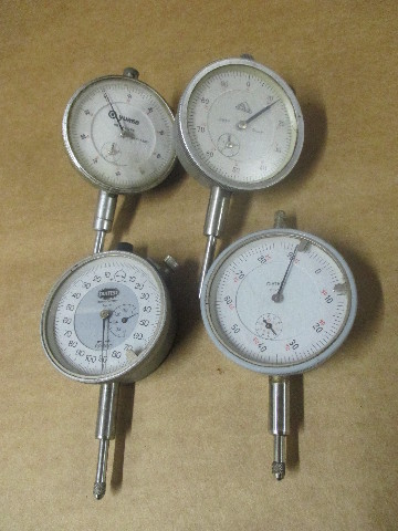 Lot of 4 Diatest, BG and Yuasa Dial Indicators