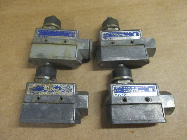 Lot of 4 MICRO SWITCH DTE6-2RN Limit Switch