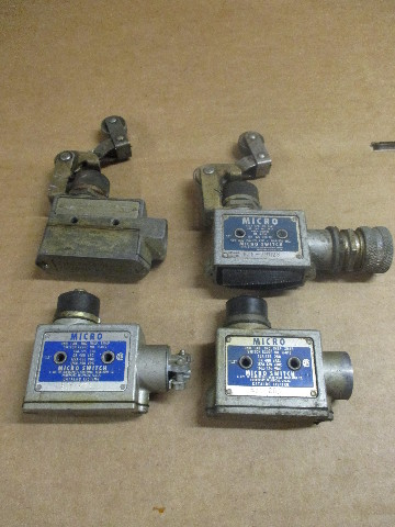 Lot of 4 MICRO SWITCH (2) BZE-2RN, BZE6-2RN28 and BZE-2RN28 LIMIT SWITCH