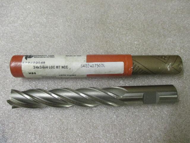"Brubaker Tool #80048 3/4""  x 3/4""  HSS NCC End Mill"