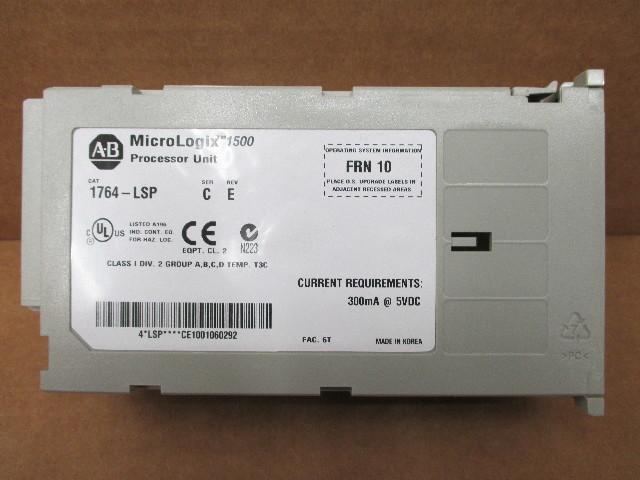 ALLEN BRADLEY MICROLOGIX 1500 CONTROLLER 1764-LSP Ser C REV E FRN 10 ...