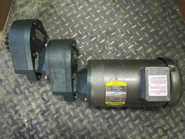 Baldor Motor 2HP with Grove Gear Multipiers TXQ2-5 and TXQ-3