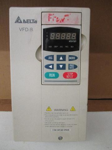 DELTA INVERTER VFD-B 5HP 3.7KW 460V 3 PHASE VFD037B43A