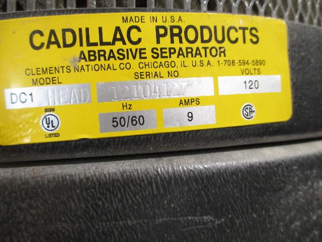 Econoline Sand blasting cabinet with Cadillac Abrasive Separator ...