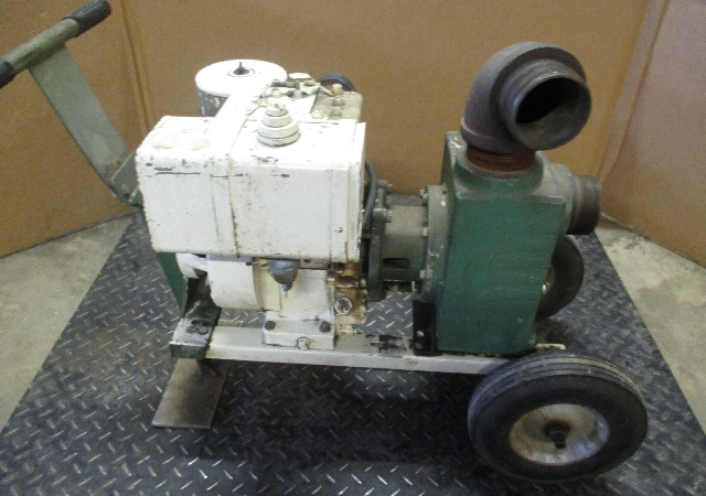 """Teel Dayton Electric  3P582B Centrifugal Water Pump  3"""" Discharge with Briggs and Stratton 8HP motor"""