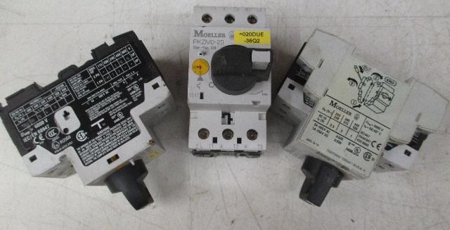 Moeller PKZMO-20 Motor Starter Protector  with NHI11-PKZO **Lot of 3**