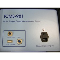 NEILSON ENGINEERING MOTOR TORQUE CURVE MEASURING SYSTEM MODEL # TCMS-981 **Price Reduced**