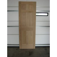"6 Panel Raised solid Oak Entrance Door 28""W x 80"" H x 1-1/2"" D"