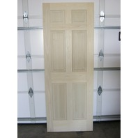 "6 Panel Raised solid Popular Entrance Door w/ damaged edge 36""W x 80""H x 1-1/2""D"