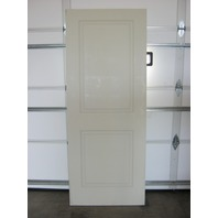 "2 Panel Raised White Solid Wood Door w/ damaged edge 31-3/4""W x 80""H x 1-1/4""D"