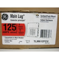 GE TLM612FCU 125 Amp Main Lug Load Center 120/240 VAC 1 Phase 3 Wire Model 1