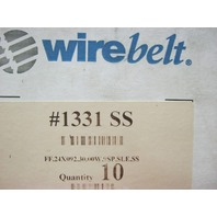 WIREBELT # 1331 SS  -  Flat Flex # FF .24x092 .30.00W .9SP.SLE.SS