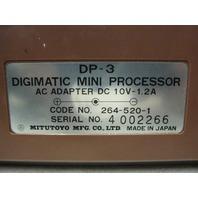 MITUTOYO DP - 3 Digimatic Mini Processor w/ Power Supply & Operation Manual