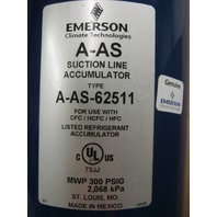 EMERSON  A - AS - 62511  Suction Line Accumulator / MWP 300 PSIG - 2068 kPa