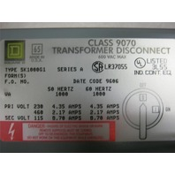 Square D SK1000G1 Class9070 Series A Transformer Disconnect 230/460V 600Vac