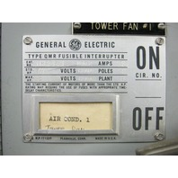General Electric Type QMR Fusible Interrupter THP361L 30 Amps
