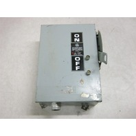 General Electric 30 amp Heavy Duty Safety Switch 600 VAC THN3361J