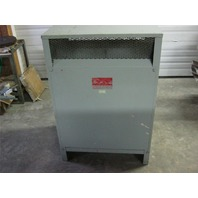 HEVI-DUTY ELECTRIC COMPANY TRANSFORMER KVA 225 3 PHASE 480-208y/120 V