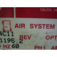 Graham - White 5-in-1 Air System  Model: D24 C11 Air Filtration & Dryer Unit