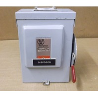 WESTINGHOUSE RHFN321 30AMP HEAVY DUTY FUSED SAFETY SWITCH