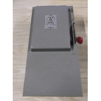 WESTINGHOUSE HF463N 100 Amp Safety Switch  600 VAC Fusible Nema 1