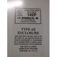 WIEGMANN 142P 16X14X6 IN ELECTRICAL ENCLOSURE TYPE 4X