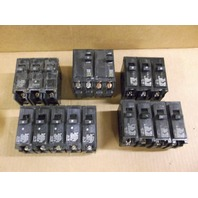 Lot of 15 Circuit Breakers Square D, Siemens and Gould