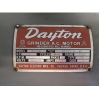 "Dayton 3Z144 10"" Double End  Grinder  1Hp 208-220/440, 3 PH"