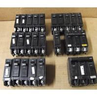Lot of 21 General Electric 20 amp circuit breakers & (2) 100 amp circuit breaker