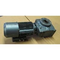Sew-Eurodrive Motor DFT80K4BMG1HRZ  .75HP 1700 RPM 3 PH with Gearmotor SA57DT80K4BMG1HRZ