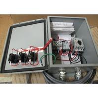 Starter Enclosure Box  w/ Allen Bradley contactors / components M09, OM-C2E