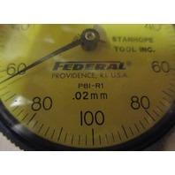 FEDERAL  DIAL INDICATOR GAUGE GAGE P81-R1 Flat Back