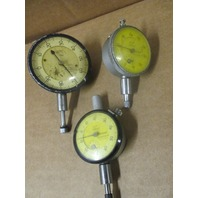 Lot of 3 Ames and Mitutoyo Dial Indicators